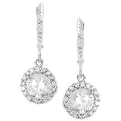 Journee Sterling Silver Cubic Zirconia Drop Earrings