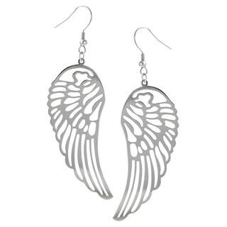 Tressa Stainless Steel Cut-out Wing Dangle Earrings
