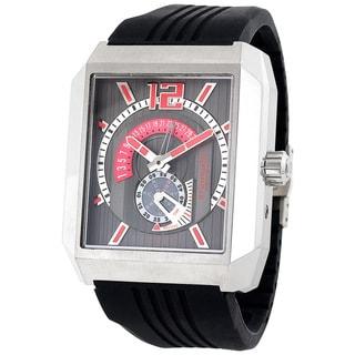 Stuhrling Original Men's 'Metropolis' Automatic Black Rubber Strap Watch