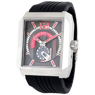 Stuhrling Original Men's 'Metropolis' Automatic Black Rubber Strap Watch