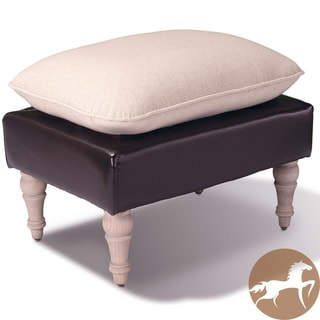 Christopher Knight Home Bishop Two-tone Leather Ottoman