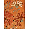 Alliyah Handmade Rust New Zealand Blend Wool Rug  (9' x 12')