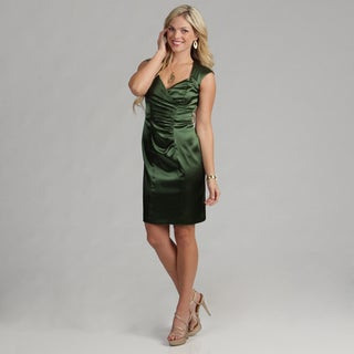 London Times Women's Side Ruche Sheath Dress FINAL SALE