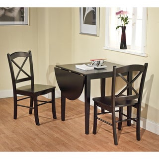 Black 3-piece Country Cottage Dining Set