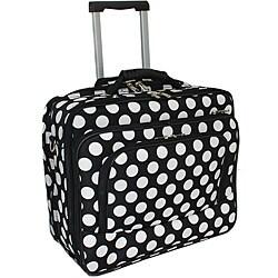 World Traveler White Dot Fashion Print Women's Rolling 17-inch Laptop Case