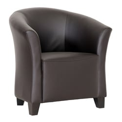 Jackson Modern Brown Faux Leather Club Chair
