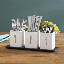 Towle Blakely 40-piece Caddies On Tray Flatware Set