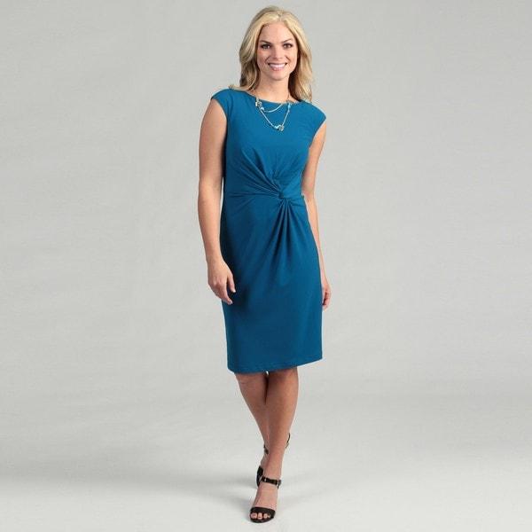 London Times Women's Aegean Twist Jersey Dress
