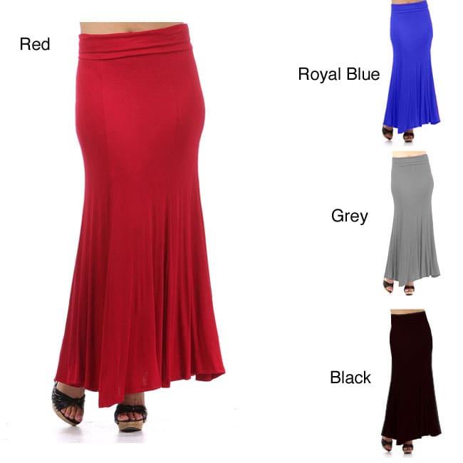 Tabeez Women's Plus Size Maxi Skirt