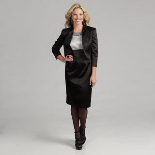 Kasper Women's Black Satin 2-piece Dress
