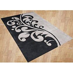 Alliyah Handmade New Zeeland Blend Flint Grey Wool Rug (8' x 10')