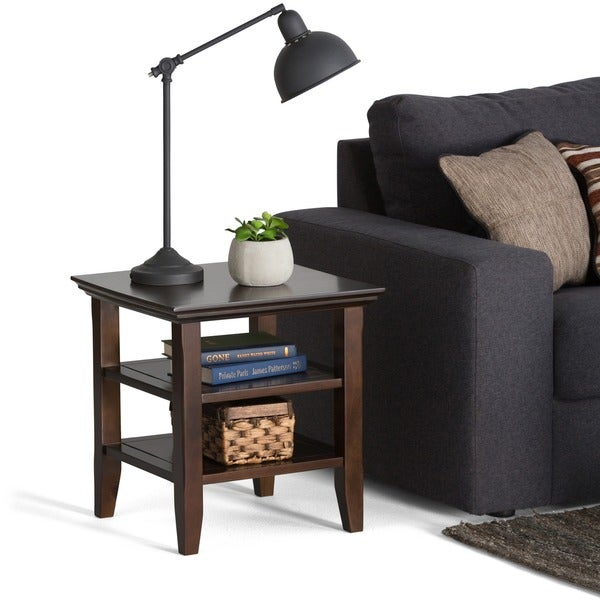 WyndenHall Normandy Tobacco Brown End Table