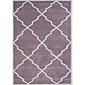 Alliyah Handmade Lilac New Zealand Wool Rug (6' x 9')