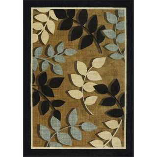 Autumn Elegance Woven Brown Rug (5' x 7')