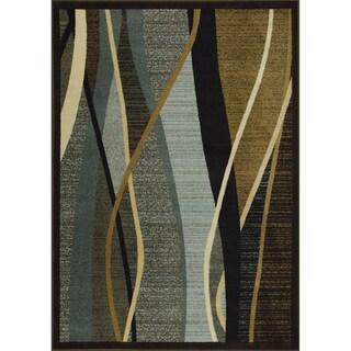 Somette Ocean Dance Woven Brown Rug (5' x 7')