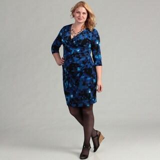 Jessica Howard Women's Plus Surplus Bodice Sheath Dress