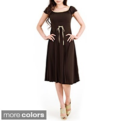 Evanese Women's Capped Sleeve Dress