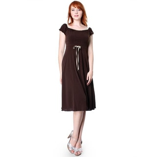 Evanese Women's Capped Sleeve Dress
