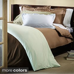 Simple Elegance Luxurious Down Alternative Comforter with Bonus Egyptian Cotton 4-piece Duvet Cover Set
