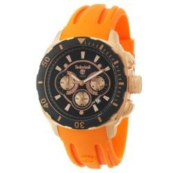 Timberland Men's 'Kingsbridge' Rose Goldplated Stainless Steel and Silicon Quartz Watch