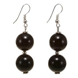 Black Agate Earrings (Thailand)