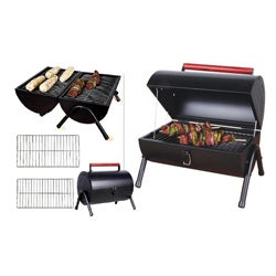 Sunbeam Black Steel Portable Charcoal BBQ Grill