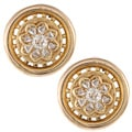 14K Yellow Gold 1ct TDW Antique Flower Earrings (I-J, SI1-SI2)