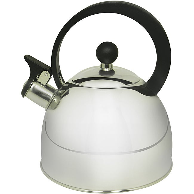 Prime pacific 2 quart stainless steel whistling tea kettle for Alpine cuisine tea kettle