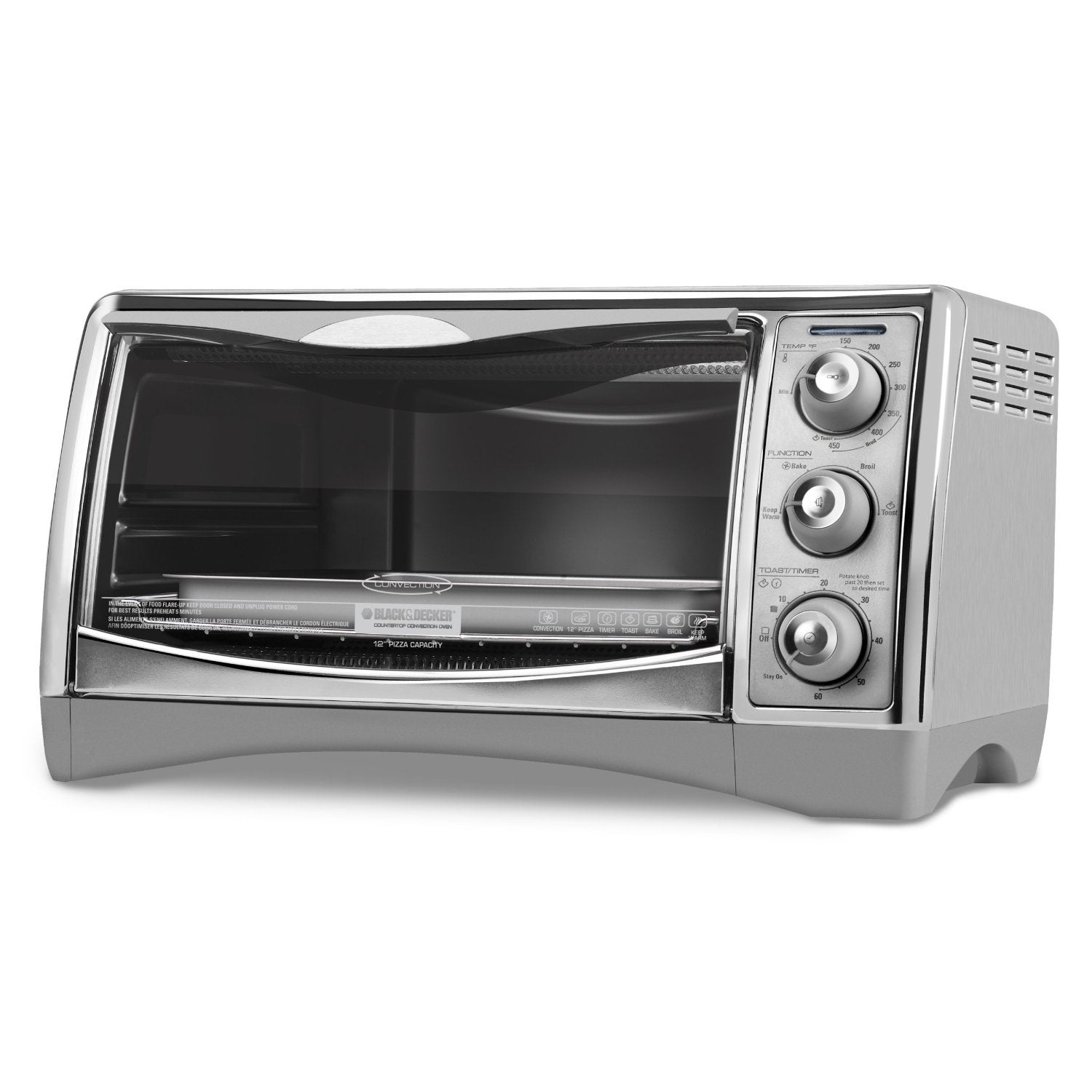 Countertop Convection Oven Toaster : Black & Decker CTO4500S 6-Slice CounterTop Convection Oven with Pizza ...