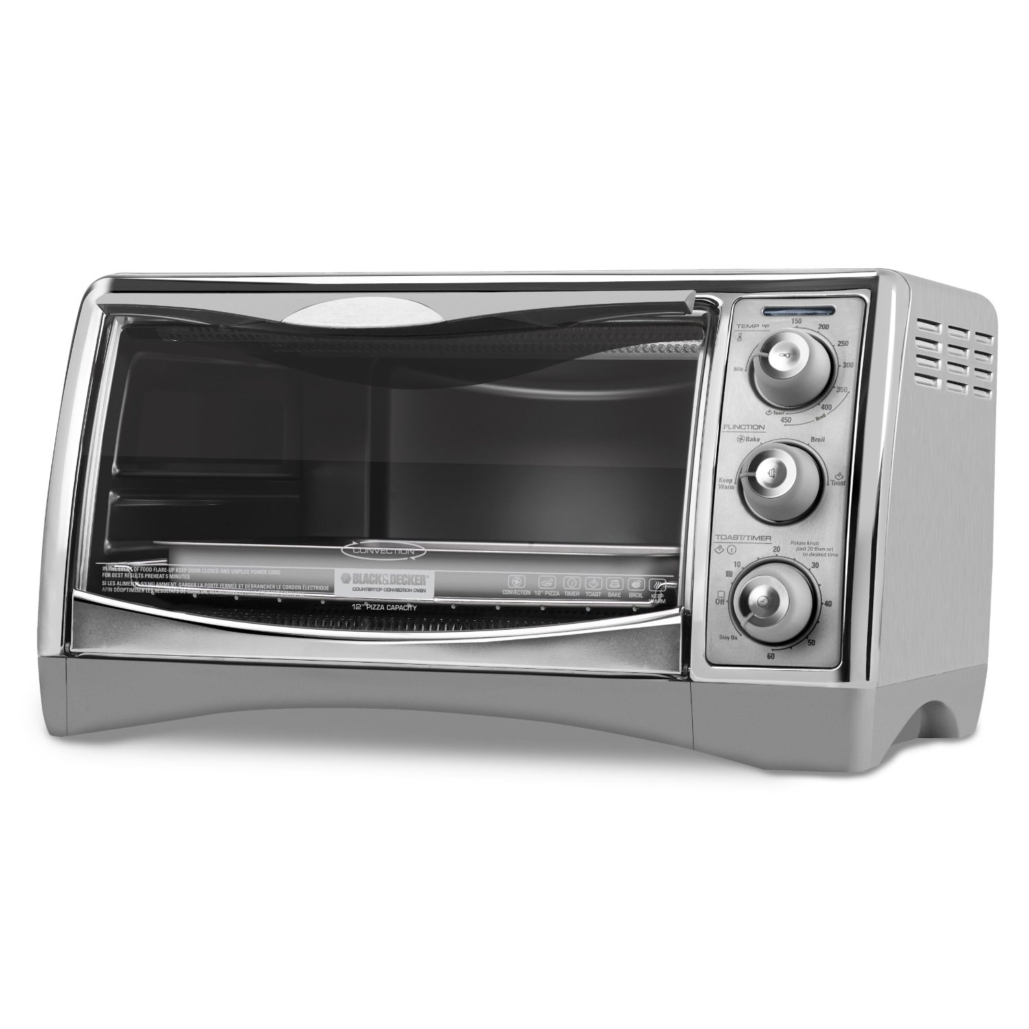 Countertop Toaster Convection Oven Reviews : Black & Decker CTO4500S 6-Slice CounterTop Convection Oven with Pizza ...
