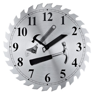 Saw Blade Workshop Clock