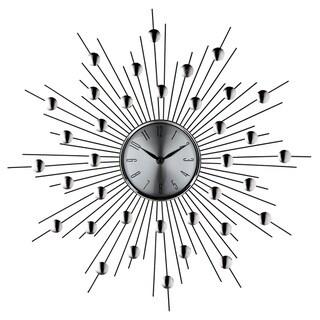 Silver Starburst Wall Clock