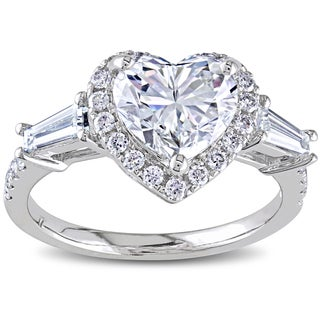 Miadora 14k White Gold 2 1/4ct TDW Certified Heart Diamond Ring (I, VS2)