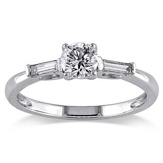 Miadora 14k White Gold 1/2ct TDW Diamond 3-stone Ring (G-H, I1-I2)