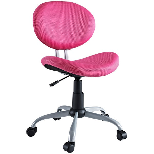 comfort groove swivel pink mesh task chair 14228555