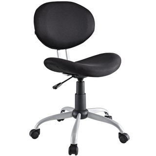 Comfort Groove Swivel Black Mesh Task Chair