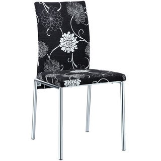 Dark Florals Dining Chair