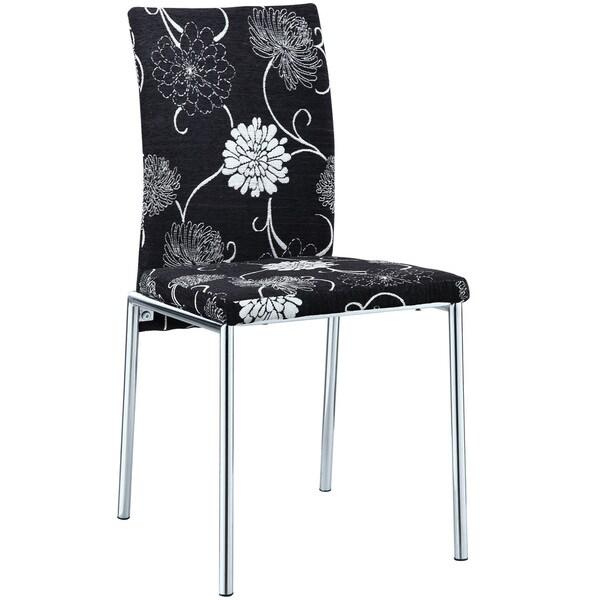 Dark Florals Dining Chair