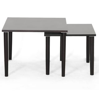 Shaffer Dark Brown Modern Nesting Tables
