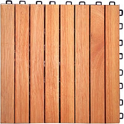 Interlocking 8-slat Design Eucalyptus Deck Tile