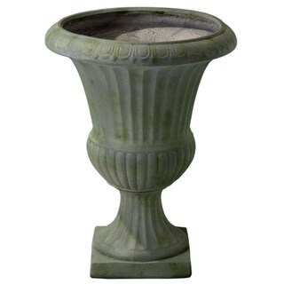 Christopher Knight Home Ulysses 22.5-inch Grey with Green Moss Urn Planter