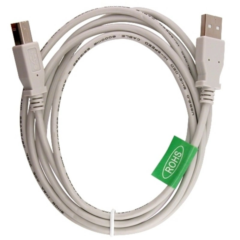 INSTEN 6-foot White Type A to B USB 2.0 Cable