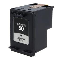 HP 60/CC640WN Black Ink Cartridge for Inkjet Printers (Remanufactured)