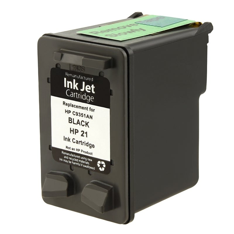 INSTEN HP 21/ C9351AN Black Ink Cartridge for DeskJet 3910/ 3930 (Remanufactured)