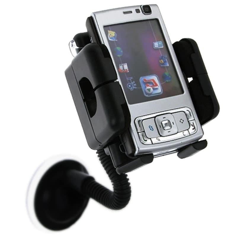 INSTEN Black Universal Swivel Windshield Phone Holder for Apple iPhone 4S/ 5S/ 6