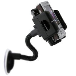 BasAcc Black Universal Swivel Windshield Phone Holder