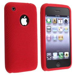 BasAcc Red Textured Silicone Skin Case for Apple iPhone 3G/ 3GS