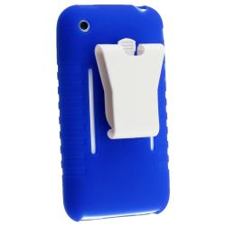 BasAcc Blue Silicone Skin Case for Apple iPhone 3G/ 3GS