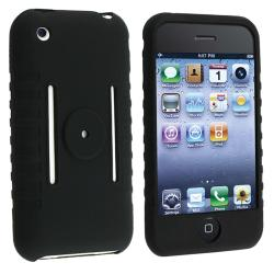 BasAcc Black Silicone Skin Case for Apple iPhone 3G/ 3GS