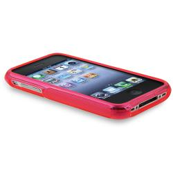 BasAcc Hot Pink S Shape TPU Rubber Case for Apple iPhone 3G/ 3GS